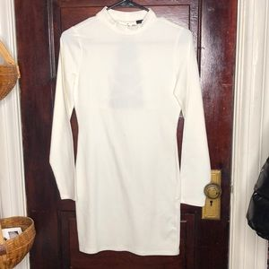 White Bodycon dress with back opening